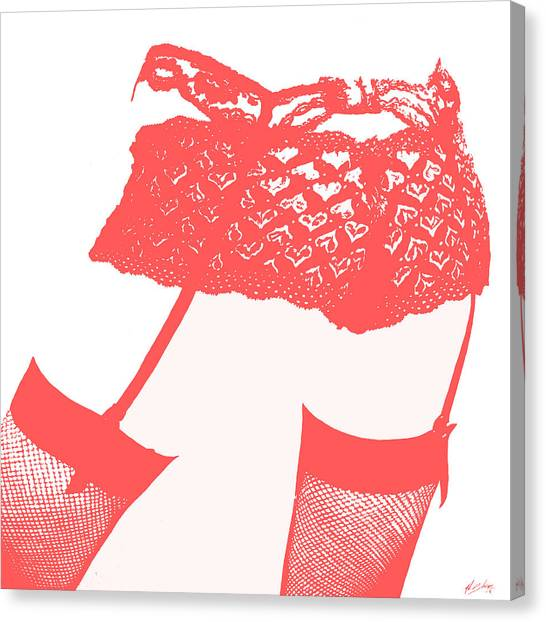 Canvas Print - Lingerie IIi Red by John Silver