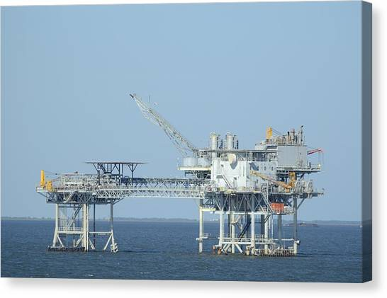 Linked Oil Platforms Canvas Print
