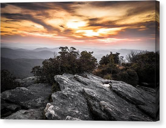 Linville Gorge Sunrise Canvas Print