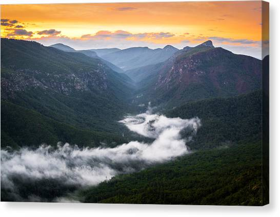 Linville River Of Fog Canvas Print