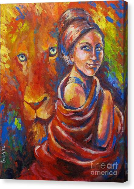 Prophetic Art Canvas Print - Lion Covering by Tamer and Cindy Elsharouni