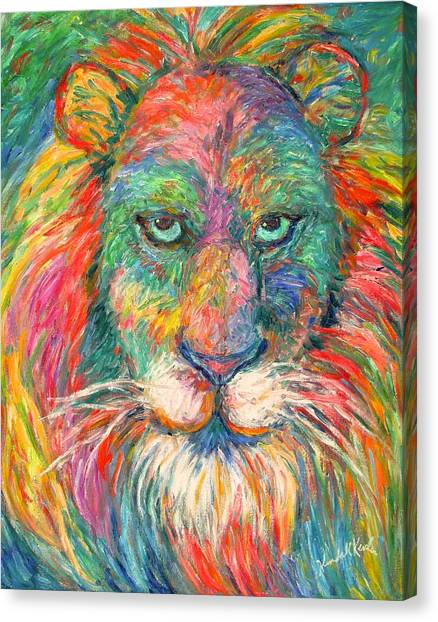 Lion Explosion Canvas Print