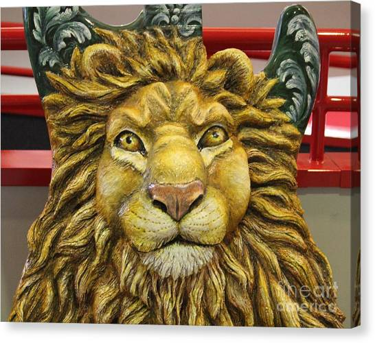 Lion Face Guitar Canvas Print
