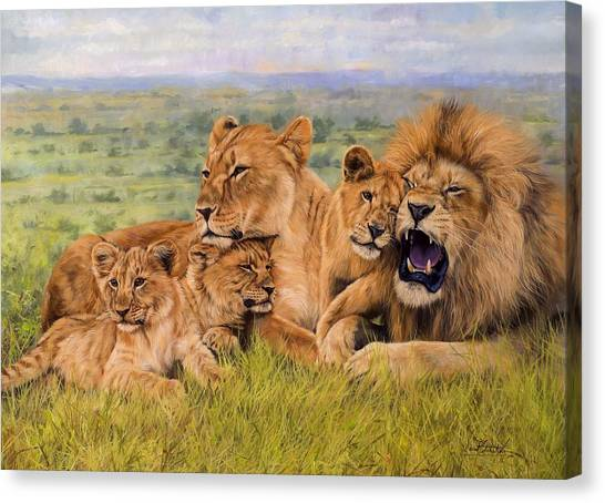 Lion Family Canvas Print