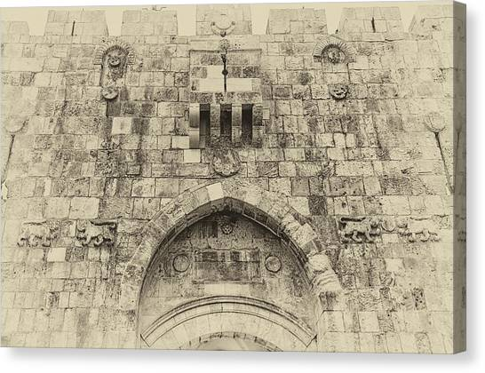Lion Gate Jerusalem Old City Israel Canvas Print