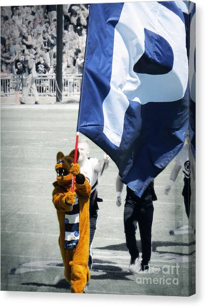 Pennsylvania State University Canvas Print - Lion Leading The Team by Dawn Gari