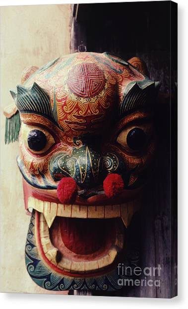 Lion Mask For Chinese New Year Canvas Print