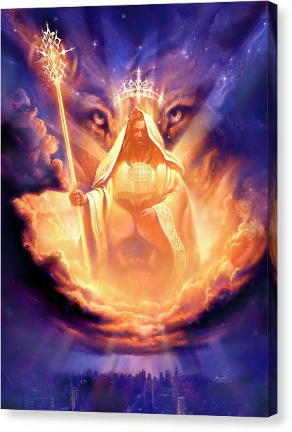Lions Canvas Print - Lion Of Judah by Jeff Haynie