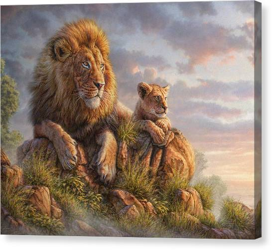 Lions Canvas Print - Lion Pride by Phil Jaeger
