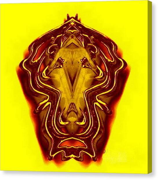 Lion Tall Canvas Print