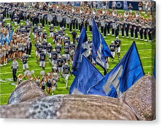 Pennsylvania State University Canvas Print - Lion Watching The Entrance by Tom Gari Gallery-Three-Photography