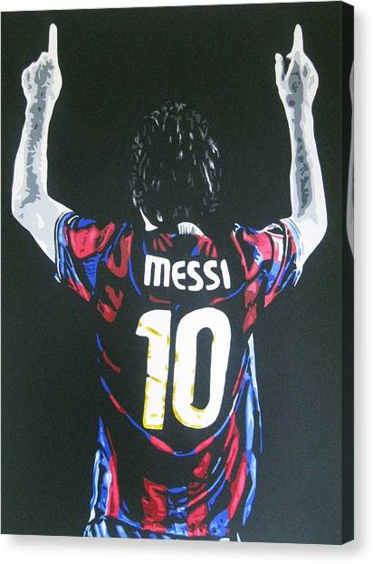Lionel Messi Canvas Print - Lionel Messi - Barcelona Fc by Geo Thomson