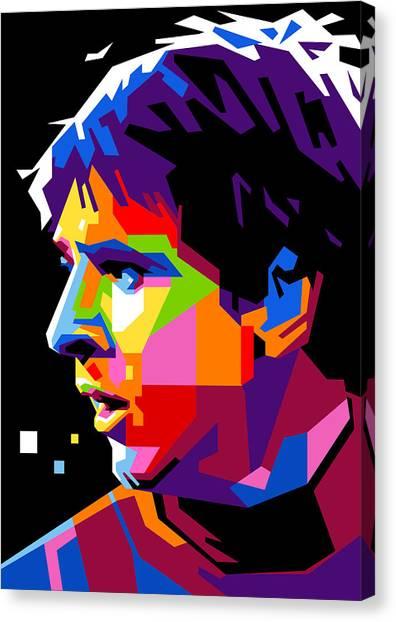 Messi Canvas Print - Lionel Messi by Ahmad Nusyirwan