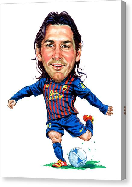 Lionel Messi Canvas Print - Lionel Messi by Art