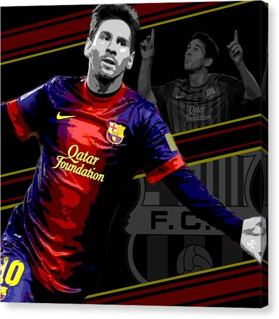 Lionel Messi Canvas Print - Lionel Messi Barcelona Print by Pro Prints