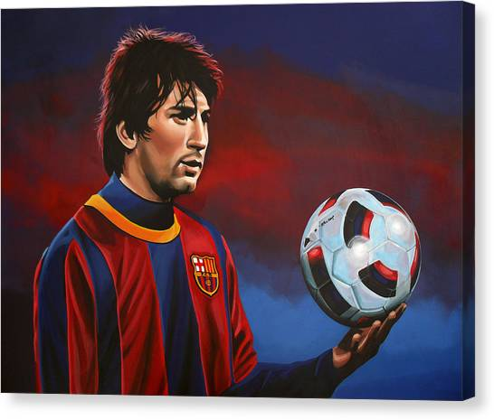 Lionel Messi Canvas Print - Lionel Messi 2 by Paul Meijering