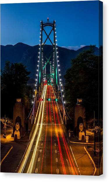 Lion's Gate Bridge Vancouver B.c Canada Canvas Print by Pierre Leclerc Photography