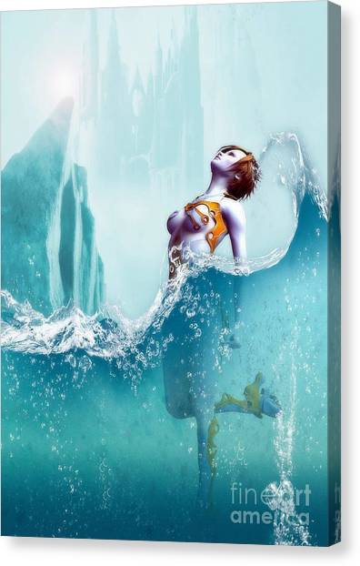 Liquid Fantasy Canvas Print by Sandra Bauser Digital Art