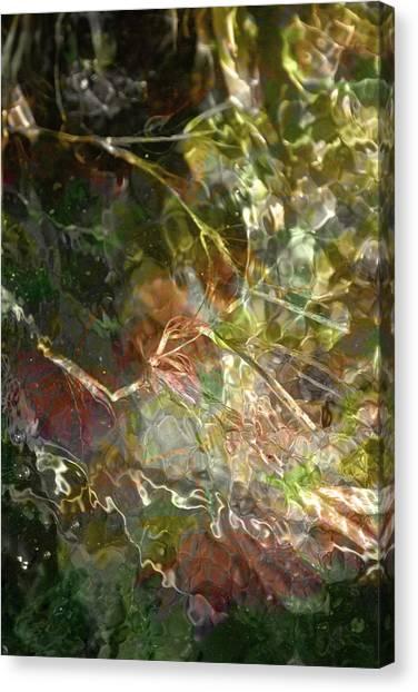 Liquid Leaves Canvas Print