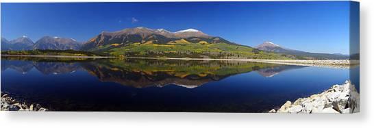 Mt. Massive Canvas Print - Liquid Mirror Panorama by Jeremy Rhoades