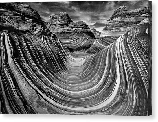 Arizona Coyotes Canvas Print - Liquid Rock 2 - The Wave by Justin Hofman