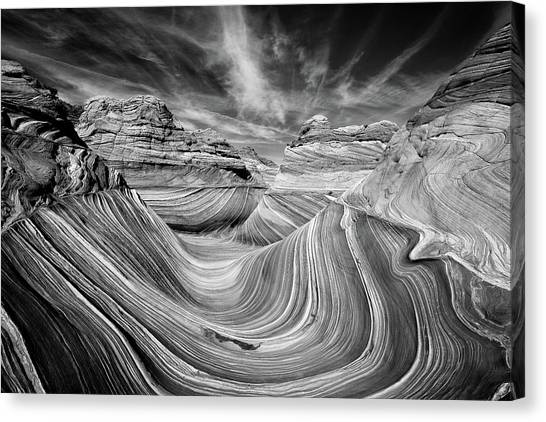 Arizona Coyotes Canvas Print - Liquid Rock - The Wave by Justin Hofman