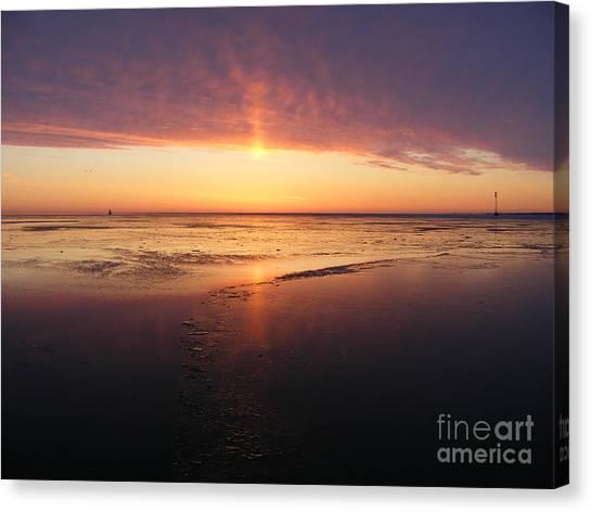Liquid Sunrise Canvas Print