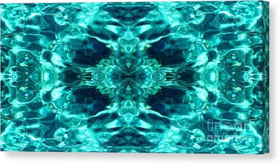 Liquify Aqua Canvas Print