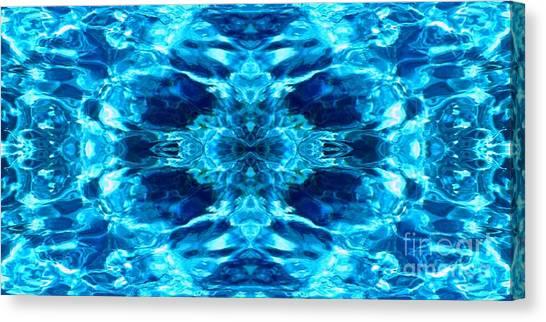 Liquify Blue Canvas Print