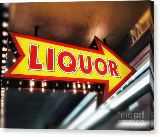 Liquor Store Sign Canvas Print