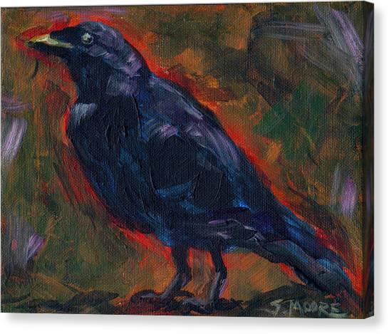 Lisa's Blackbird Canvas Print by Susan Moore