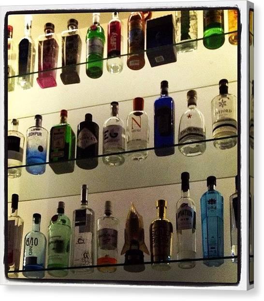 Gin Canvas Print - #lisboa #tabernamoderna #gin #bar by Pedro Miranda