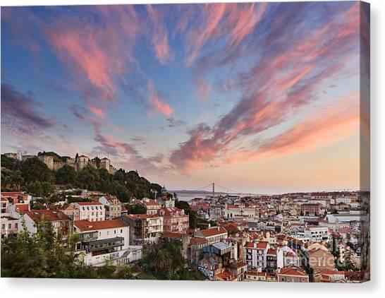 St George Canvas Print - Lisbon by Rod McLean
