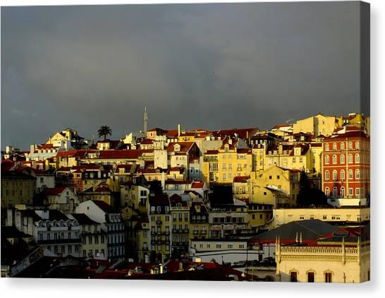 Lisbon Skyline Canvas Print