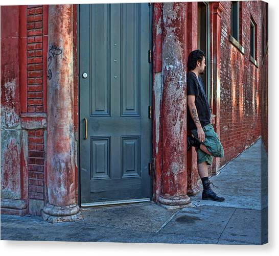 East Village Canvas Print - Listen To The Music by Nikolyn McDonald