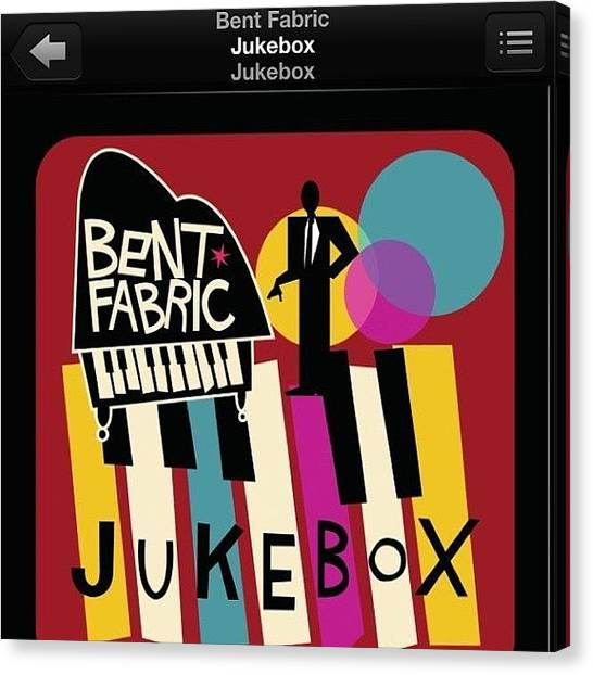 Jukebox Canvas Print - Listening To This While Writing An by Miori Bando