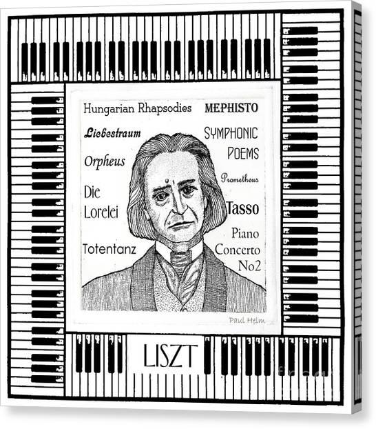 Liszt Canvas Print by Paul Helm