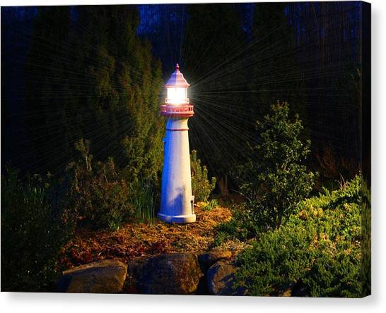 Lit-up Lighthouse Canvas Print