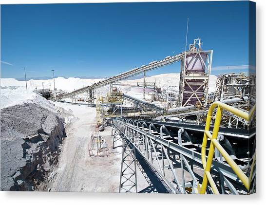 Atacama Desert Canvas Print - Lithium Production by Philippe Psaila/science Photo Library