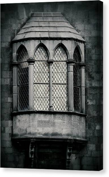 Lattice Castle Window Canvas Print