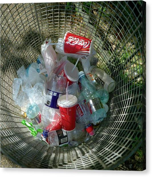 Rubbish Bin Canvas Print - Litter Bin by Robert Brook/science Photo Library
