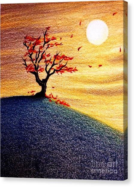 Little Autumn Tree Canvas Print
