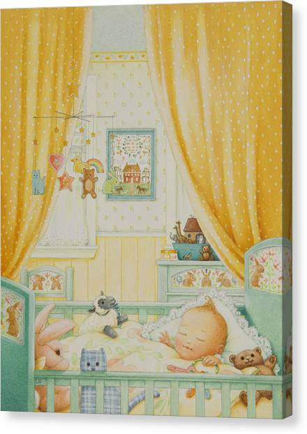 New Baby Canvas Print - Little Baby by Lynn Bywaters