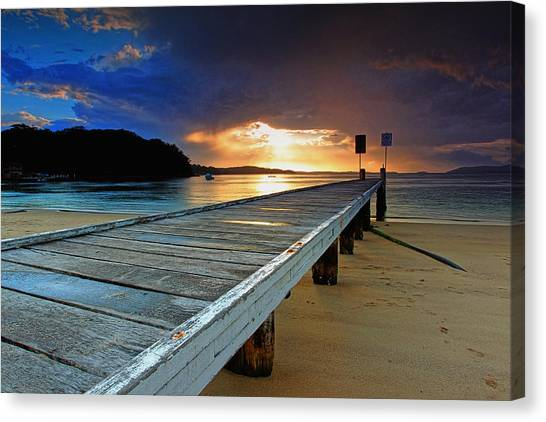 Little Beach Aglow Canvas Print