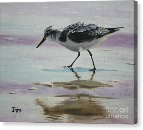 Little Beach Bird Canvas Print