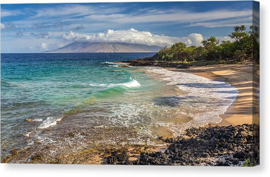 Little Beach Maui Sunrise Canvas Print
