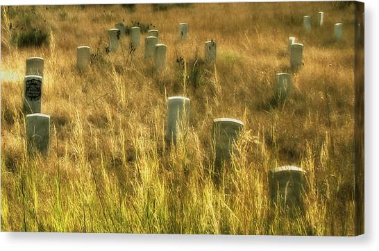 Little Big Horn Gravesite Canvas Print
