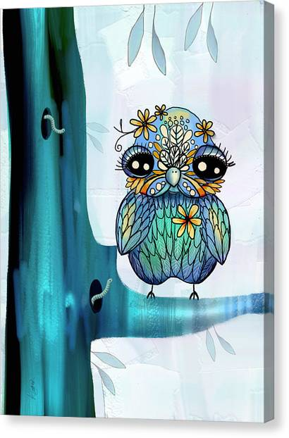Baby Taylors Canvas Print - Little Blue Bird by Karin Taylor