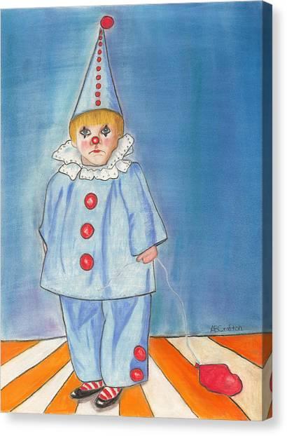Little Blue Clown Canvas Print