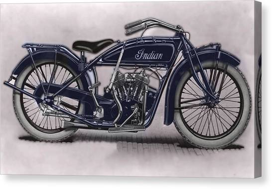 Little Blue Indian 2 Canvas Print